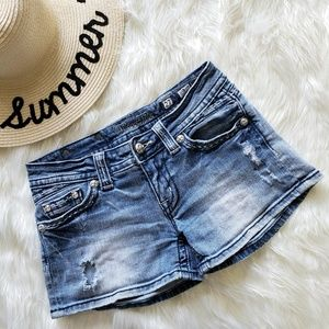 Miss Me Distressed Jean Shorts 27